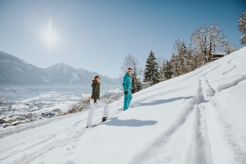 Romantisches Winterwandern im Salzburger Land
