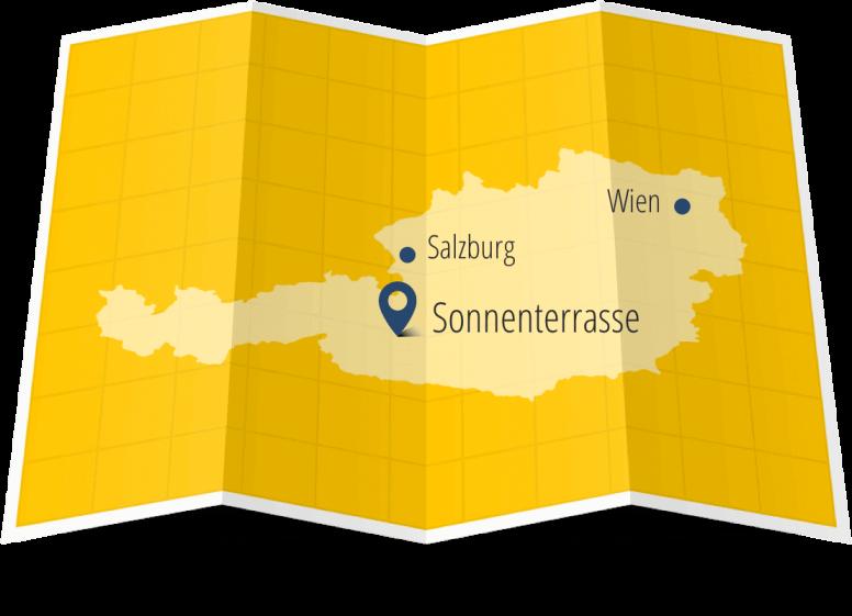 salzburger sonnenterrasse bild karte