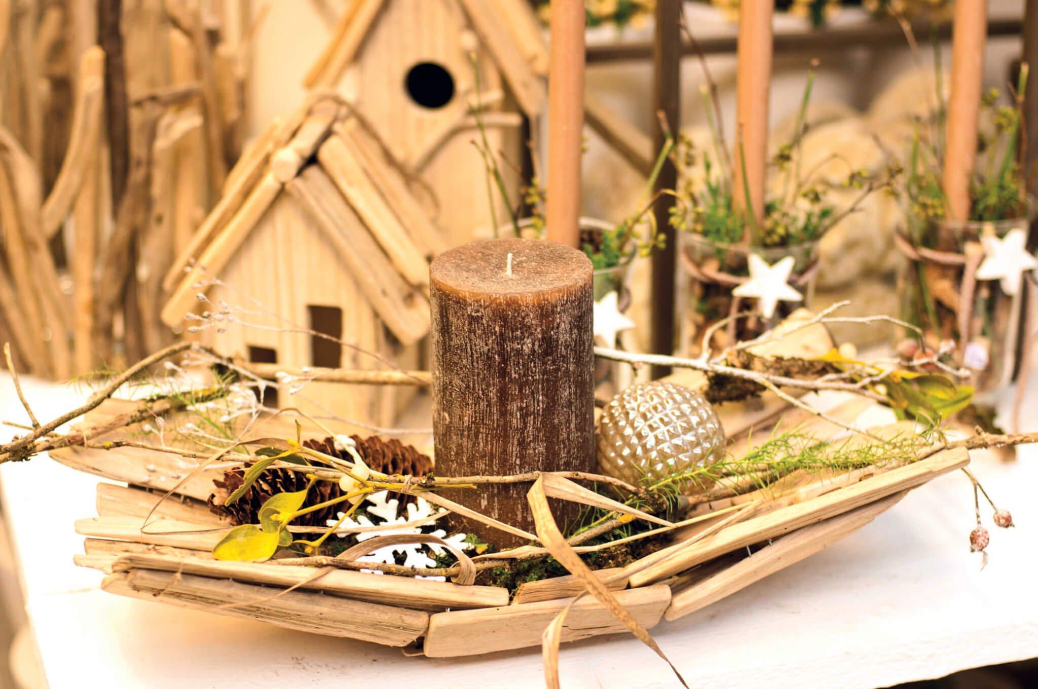 Advent market of the craft round
