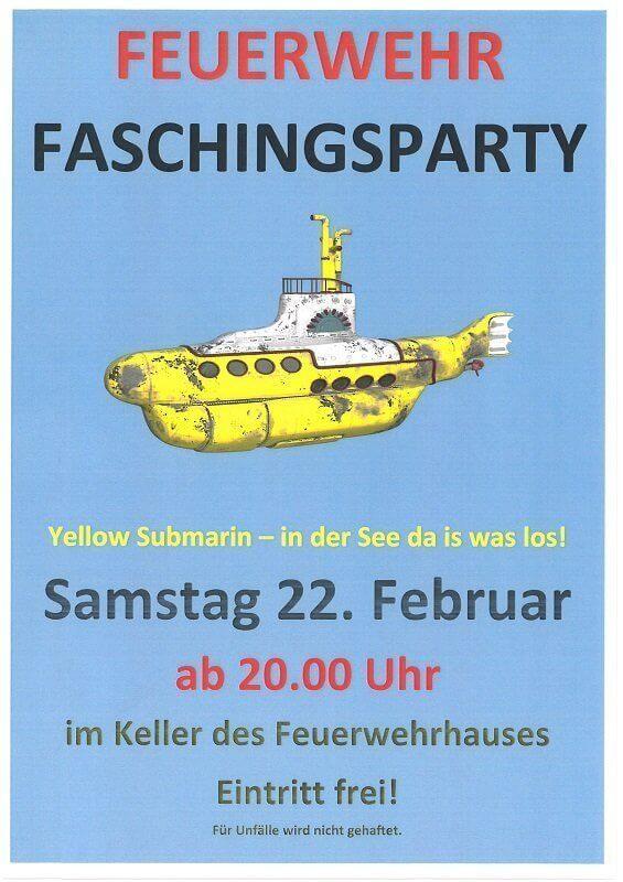 Faschingsparty der Feuerwehr Schwarzach
