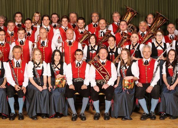 Square concert of the Salzlecker Trachtenmusikkapelle
