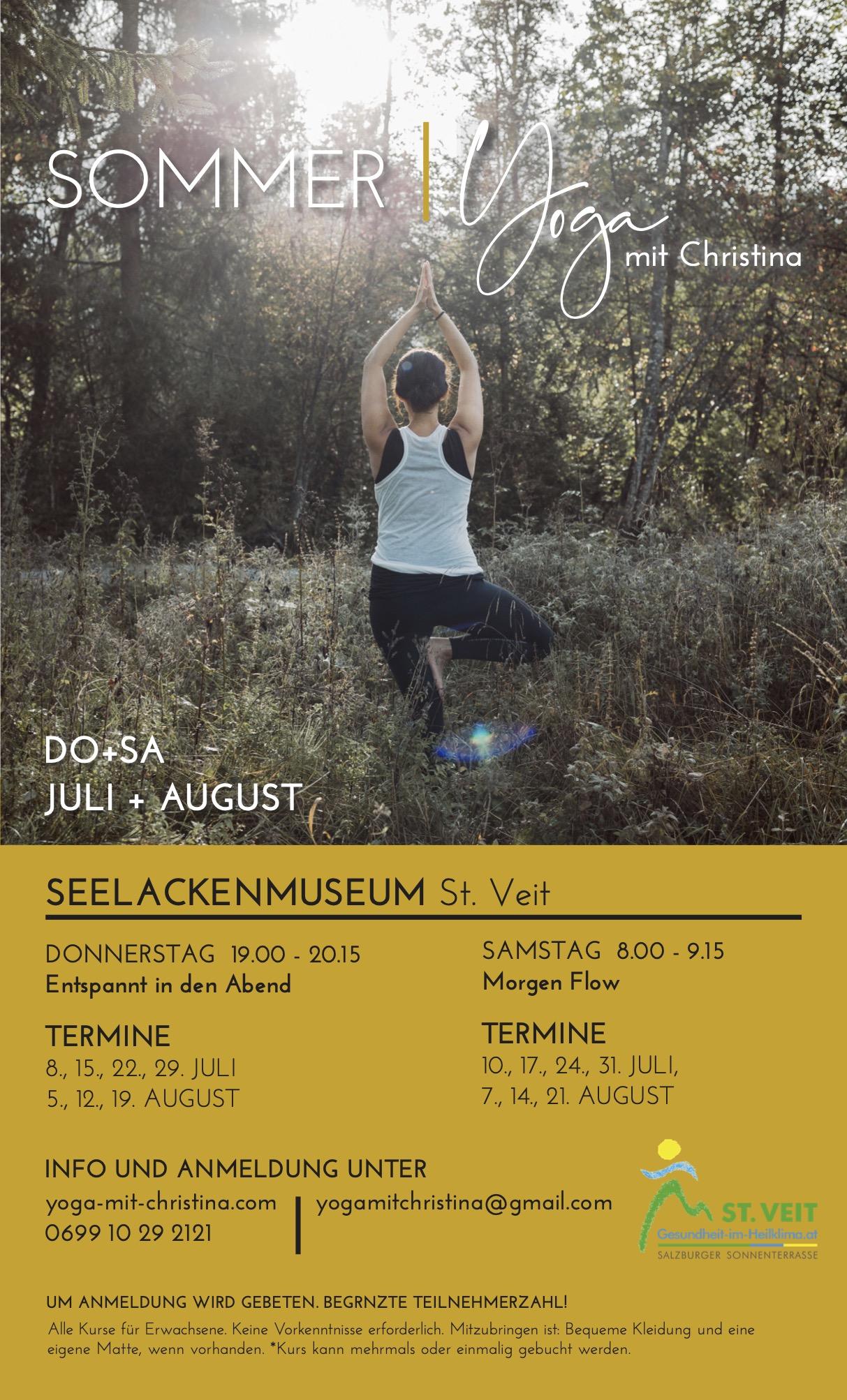 Sommer Yoga mit Christina